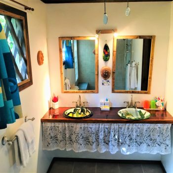 Bathroom in Toucan Bungalow at Coral Hill Bungalows