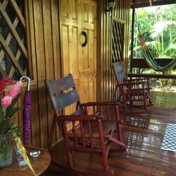 Spacious front porch of Toucan Bungalow at Coral Hill Bungalows