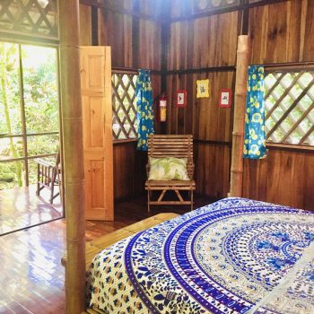 Interior view of Colibri Bungalow at Coral Hill Bungalows, Cahuita, Costa Ricata