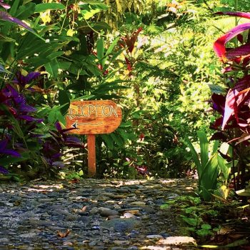 Reception sigh at Coral Hill Bungalows, Cahuita, Costa Rica