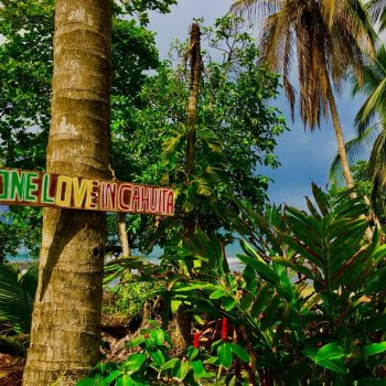 cahuita beach sign